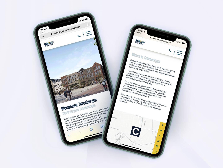 Centrumplan Zevenbergen - Website Mockup - yoreM Verovert Online