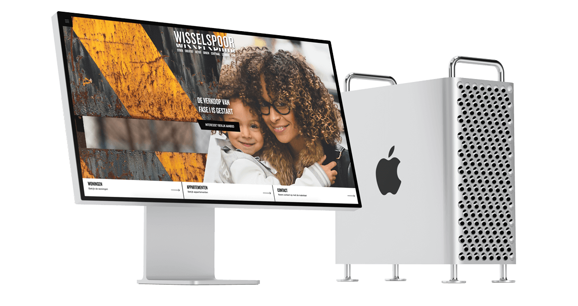 Digitale vastgoed marketing strategie van een nieuwe stadswijk in Utrecht - Desktop Ervaring - Wisselspoor
