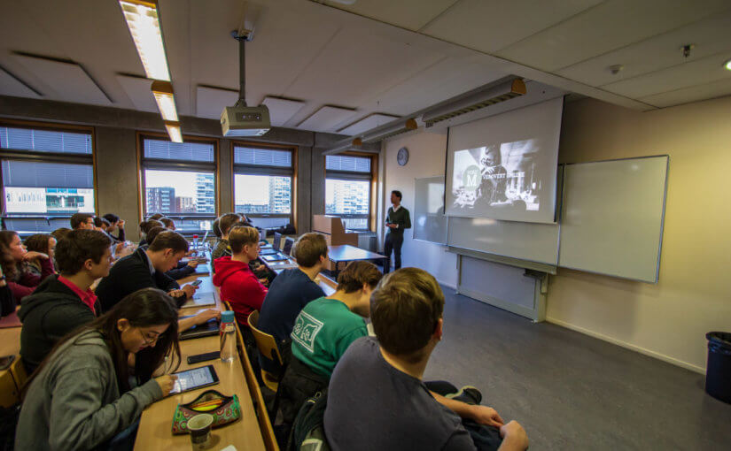 Impressie van Gastcollege op de Haagse Hogeschool over data bij gebiedsontwikkelingen