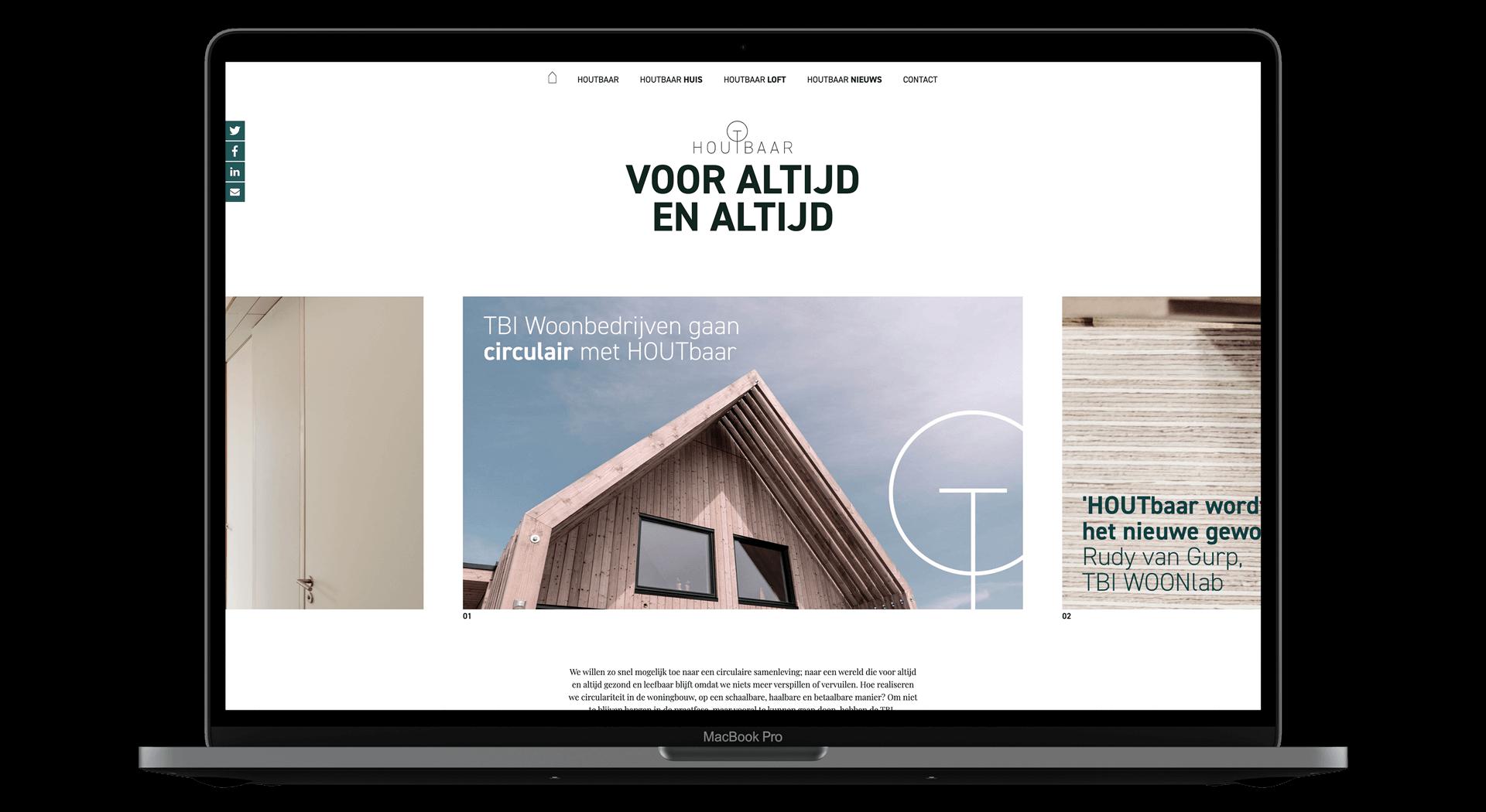 HOUTbaar - Website Mockup - yoreM Verovert Online