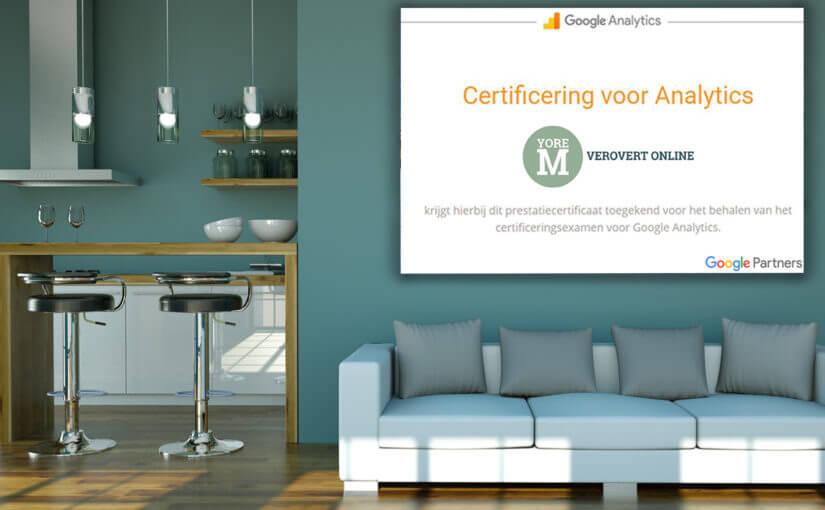 Impressie van yoreM behaalt Google Analytics certificaat!