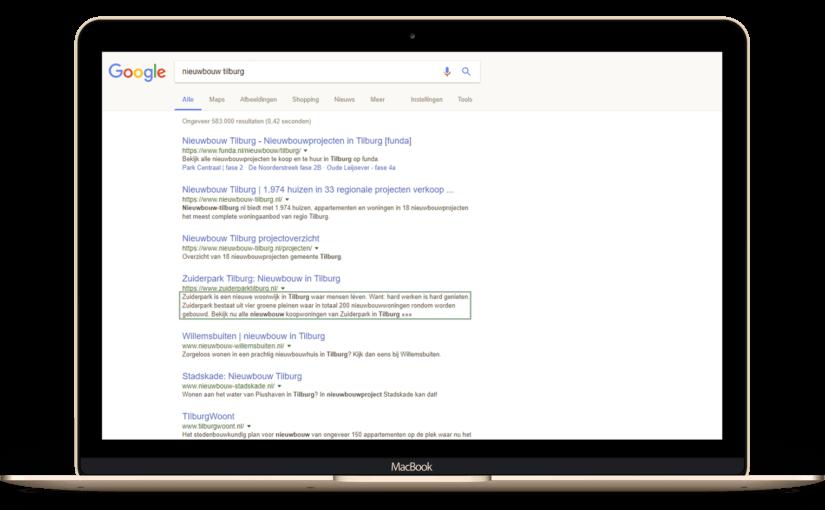 Impressie van Nieuwe meta description verbetert de zoekmachine van Google