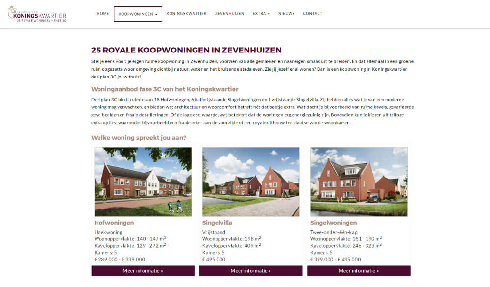 Nieuwbouw-online-marketing-project