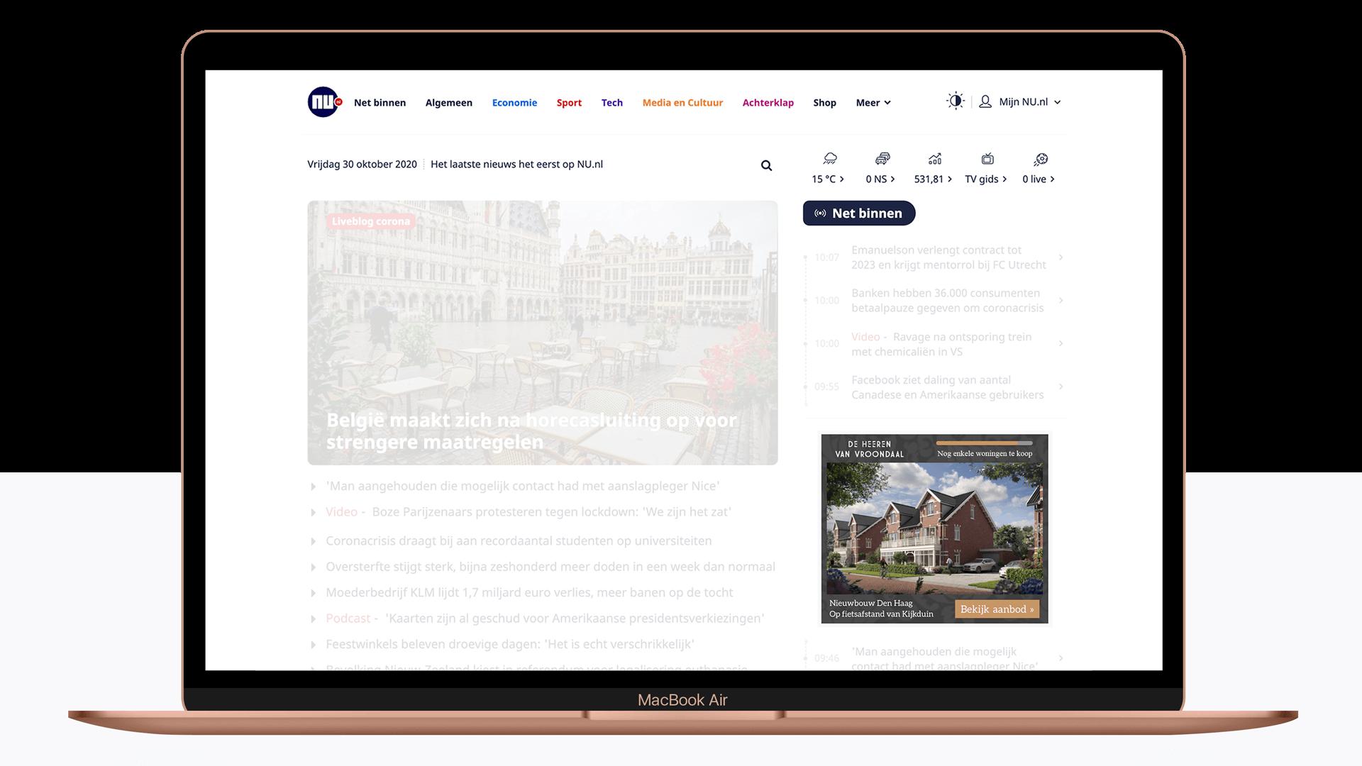 Online adverteren - Display Banner - De Heeren van Vroondaal - yoreM Digital in Real Estate