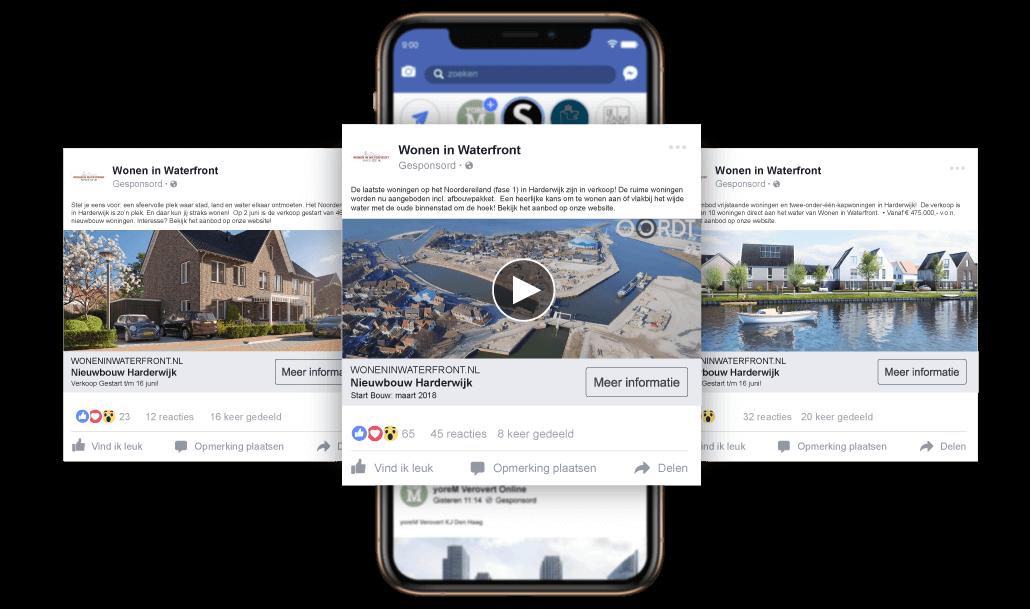 Online gebiedsmarketing nieuwbouw - Facebook ADS - Nieuwbouwproject - Wonen in Waterfront