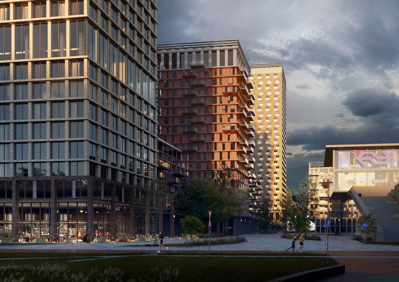 Schieveste - Nieuwbouw Schiedam - station - project door yorem