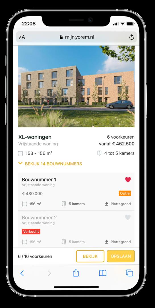 Succesvol nieuwbouw verkopen - yoreCRM Woningaanbod Single - yoreM Digital in Real Estate