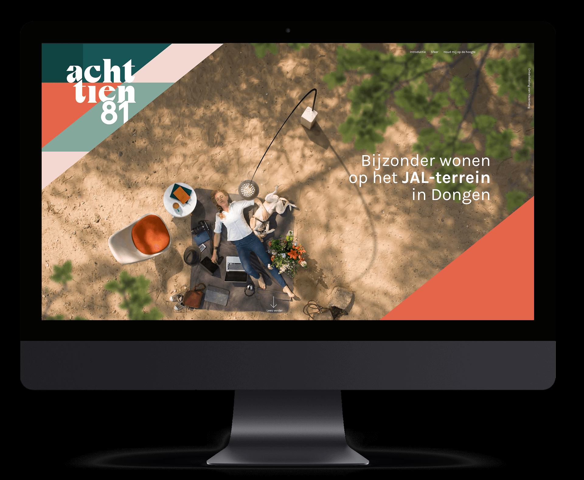 Websites - iMac Mockup - Achttien81 - yoreM Digital in Real Estate
