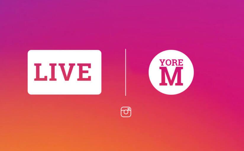 Impressie van Livestreamen via instagram