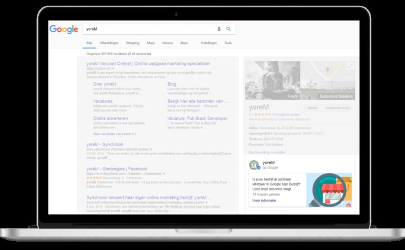 Impressie van Online vindbaarheid verbeteren via Google Mijn Bedrijf