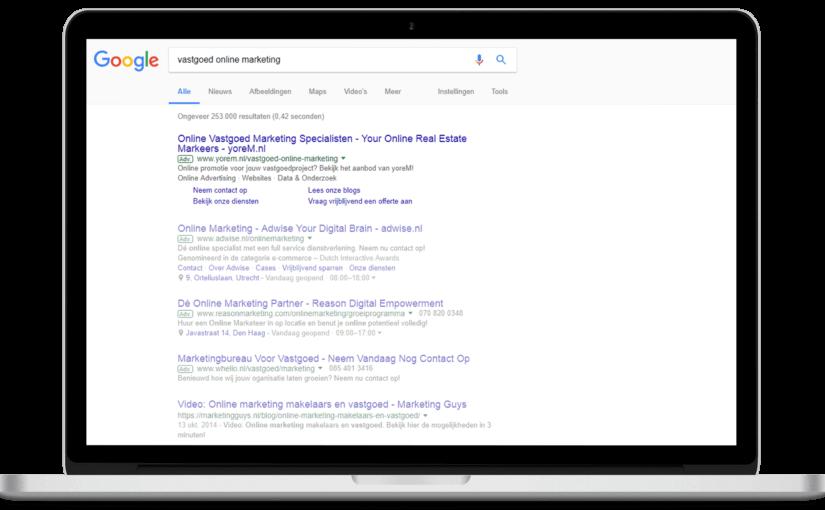 Impressie van De voordelen van adverteren via het Google AdWords zoeknetwerk